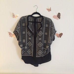 BCBGMAXAZRIA Ayanna printed blouse